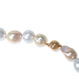 Multi-Colored South Sea Pearl 14k Rose Gold Necklace