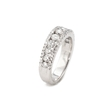 1.16ct Diamond 18k White Gold Wedding Band Ring