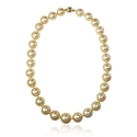 Golden South Sea Pearl 14k Yellow Gold Necklace