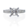 .17ct Diamond 18k White Gold Cathedral Engagement Ring Setting