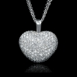 4.69ct Diamond 18k White Gold Heart Pendant