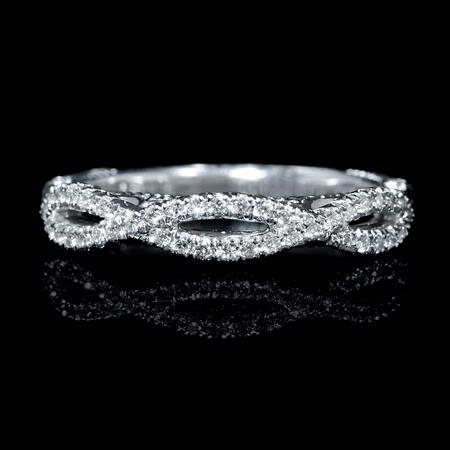 Diamond Platinum Antique Style Wedding Band Ring
