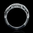 .21ct Diamond Platinum Antique Style Wedding Band Ring