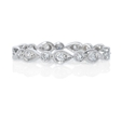 .25ct Diamond Antique Style 18k White Gold Eternity Ring