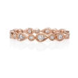 .30ct Diamond Antique Style 18k Rose Gold Eternity Ring