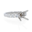 .85ct Diamond 18k White Gold Shared Prong Engagement Ring Setting