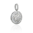 1.22ct Diamond 18k White Gold Cluster Pendant