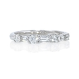 .44ct Diamond 18k White Gold Wedding Band Ring