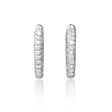 2.60ct Diamond 18k White Gold Huggie Earrings