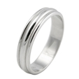 Men's 14k White Gold Antique Style Wedding Band Ring