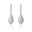 1.02ct Diamond 18k White Gold Dangle Earrings