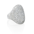 4.65ct Diamond Round Brilliant Cut Pave 18k White Gold Ring