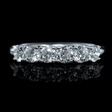 .98ct Diamond 18k White Gold Six Stone U Prong Wedding Band Ring