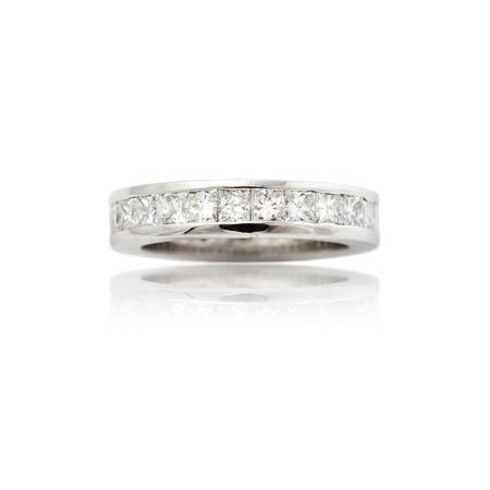 Diamond 14k White Gold Eternity Wedding Band Ring