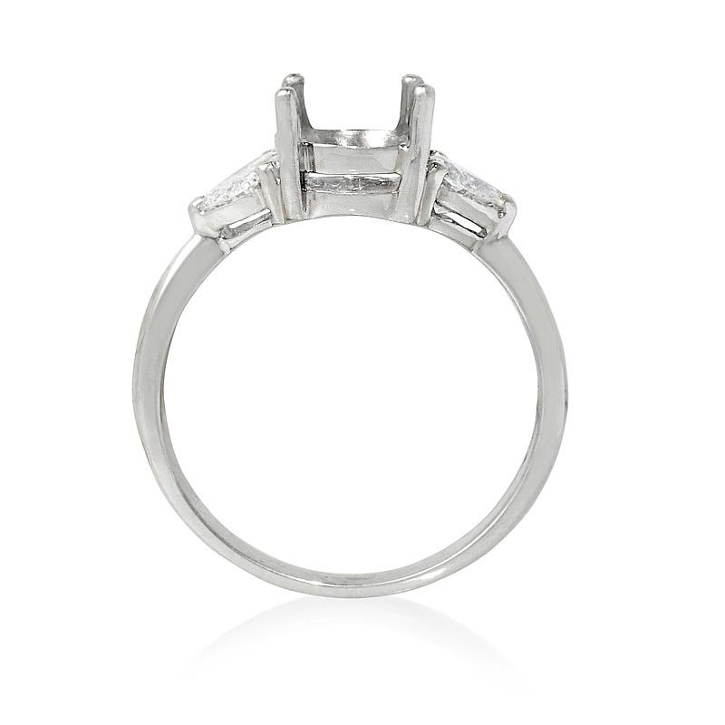 54ct Diamond Platinum Engagement Ring Setting
