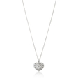 .77ct Diamond 18k White Gold Heart Pendant