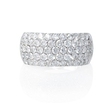 2.27ct Diamond 18k White Gold Wedding Band Ring