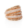 .85ct Diamond 18k Rose Gold Ring