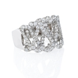 2.04ct Diamond 18k White Gold Swirl Ring