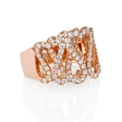 2.04ct Diamond 18k Rose Gold Swirl Ring