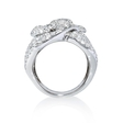 4.71ct Diamond 18k White Gold Floral Ring