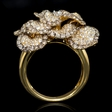 3.60ct Diamond 18k Yellow Gold Floral Ring