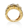 5.21ct Diamond 18k Yellow Gold Floral Ring