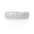 1.20ct Diamond 18k White Gold Wedding Band Ring