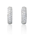 2.00ct Diamond 18k White Gold Huggie Earrings