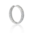 3.56ct Diamond 18k White Gold Hoop Earrings