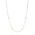 .13ct Diamond Chain 14k Rose Gold Necklace