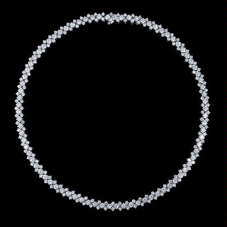 Garavelli Diamond 18k White Gold Necklace