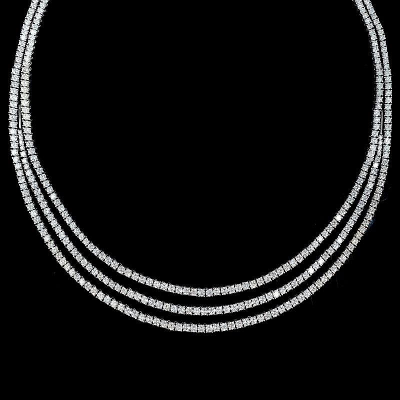 16 35ct leo pizzo 18k white gold necklace