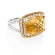 .22ct Diamond and Citrine 14k Two Tone Gold Ring