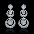 9.40ct Diamond 18k White Gold Dangle Earrings
