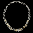 27.67ct Diamond 18k Two Tone Gold Necklace