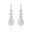 1.72ct Diamond 18k White Gold Dangle Earrings