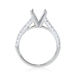 .24ct Diamond 18k White Gold Cathedral Engagement Ring Setting