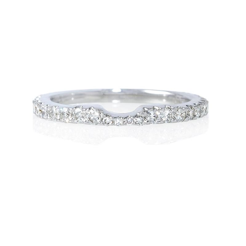 62ct 18k white gold eternity wedding band ring guard
