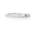 .62ct Diamond 18k White Gold Eternity Wedding Band Ring Guard