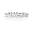 .40ct Diamond Antique 18k White Gold Eternity Ring