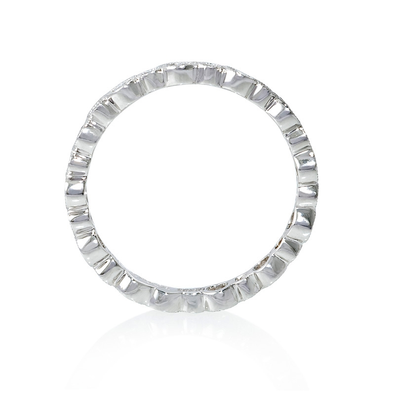 40ct antique 18k white gold eternity ring