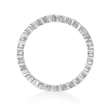.23ct Diamond Antique 18k White Gold Eternity Ring