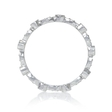 .19ct Diamond Antique Style 18k White Gold Stackable Eternity Ring