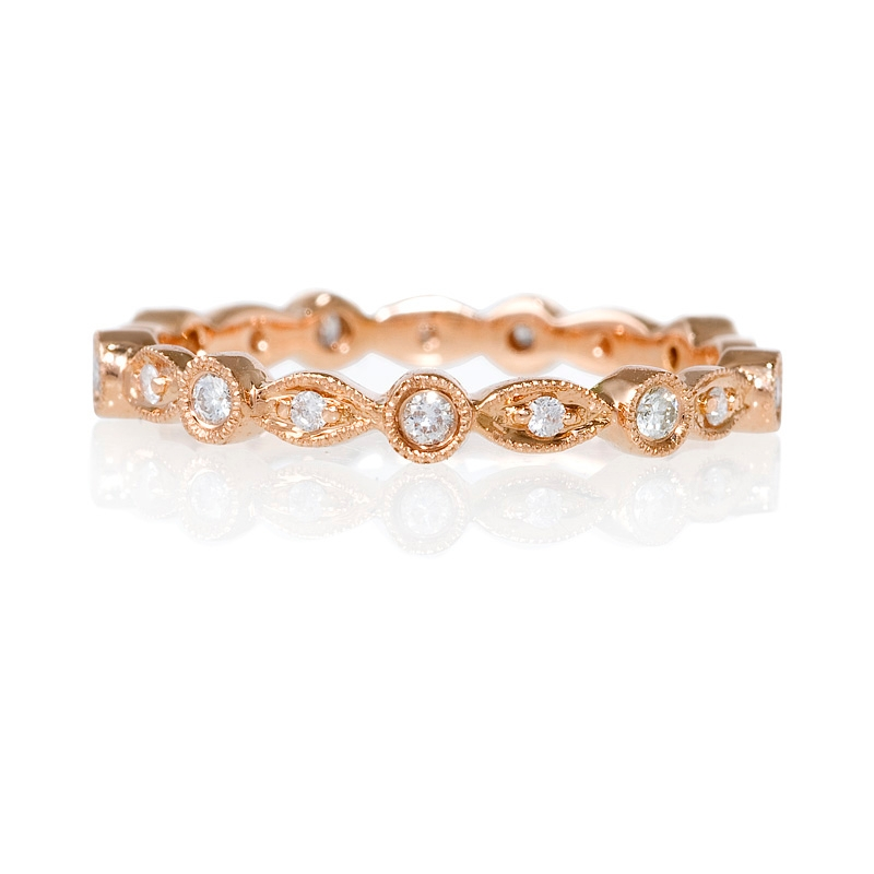 19ct Diamond Antique 18k Rose Gold Eternity Ring