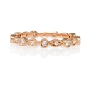 Diamond Antique 18k Rose Gold Eternity Ring