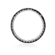 1.38ct Diamond 18k White Gold Eternity Wedding Band Ring