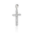 .67ct Diamond 18k White Gold Cross Pendant