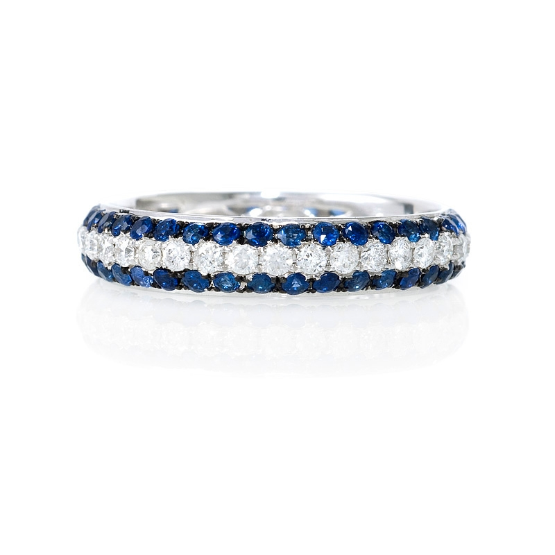 blue ring diamond gold stone products bands three and white engagement sapphire