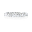 .82ct Diamond Round Brilliant Cut 18k White Gold Eternity U Prong Wedding Band Ring